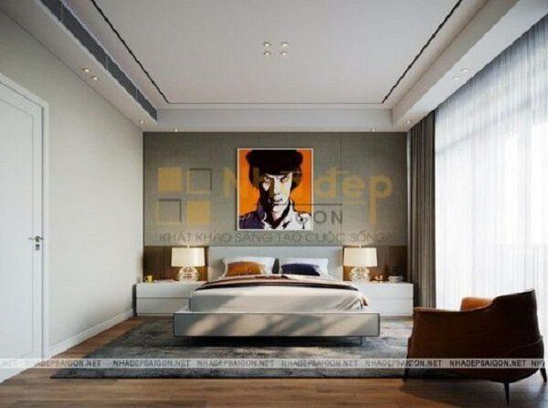 Bức tranh làm cho căn phòng trông nổi bật và ấn tượng
