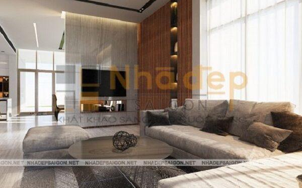 Không gian phòng khách sang trọng và tận dụng tối đa được ánh sáng tự nhiên