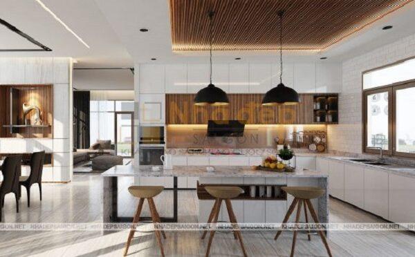 Khu vực bếp được tối ưu nội thất