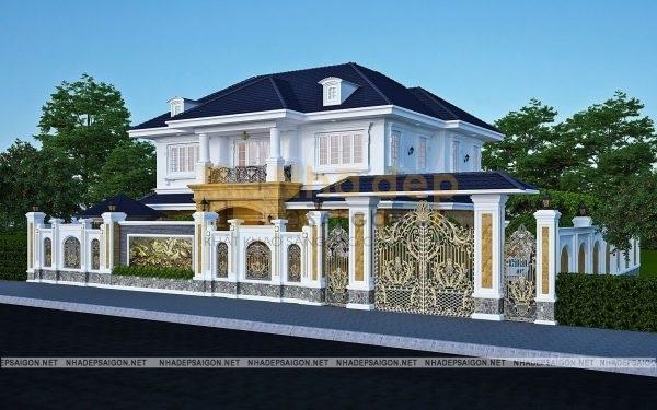Kinh nghiệm thiết kế biệt thự 2 tầng cổ điển