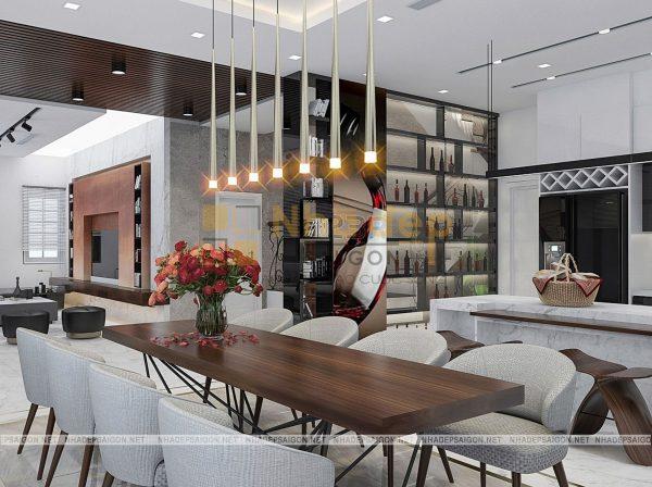 Thiết kế biệt thự 2 tầng cổ điển với nội thất sang trọng