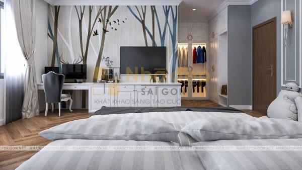 Nhà Đẹp Sài Gòn – thiết kế phòng ngủ ấm áp nhưng hiện đại