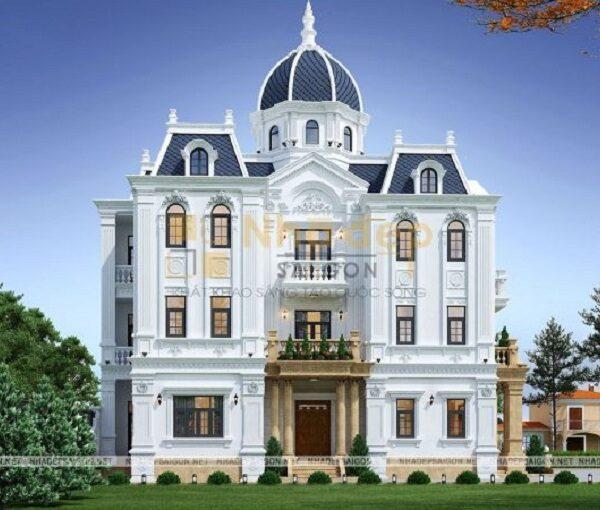Phối cảnh 3D cho mẫu nhà 8x19 biệt thự phong cách chuẩn Châu Âu