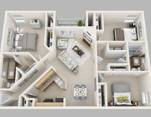 Mẫu nhà 8x20 – báo giá xây dựng nhà trọn gói