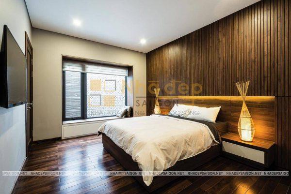 Phòng ngủ được thiết kế với nội thất đơn giản