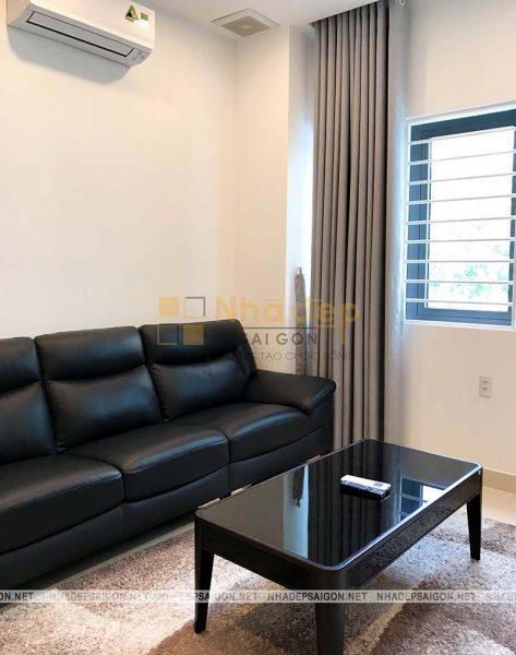 Phòng sinh hoạt chung của cả gia đình được đặt ở tầng 2