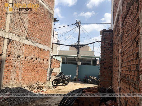 Toàn cảnh diện tích của ngôi nhà trước khi tiến hành xây dựng