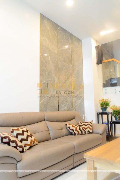 Bộ bàn ghế sofa bọc da mang lại sự sang trọng cho ngôi nhà
