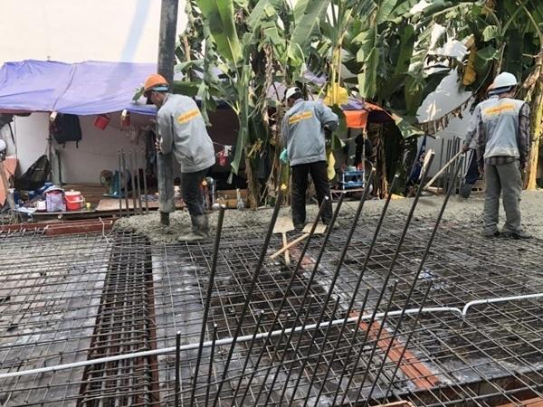 Nhà Đẹp Sài Gòn đang tiến hành làm móng cho một công trình