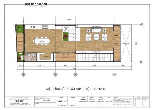 Bố trí nội thất và chức năng cho ngôi nhà