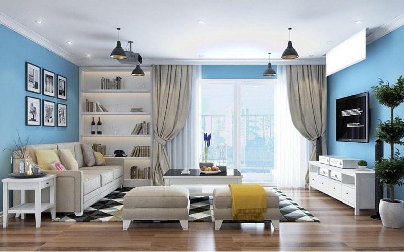 Cách phối màu phòng khách cho người mệnh thủy
