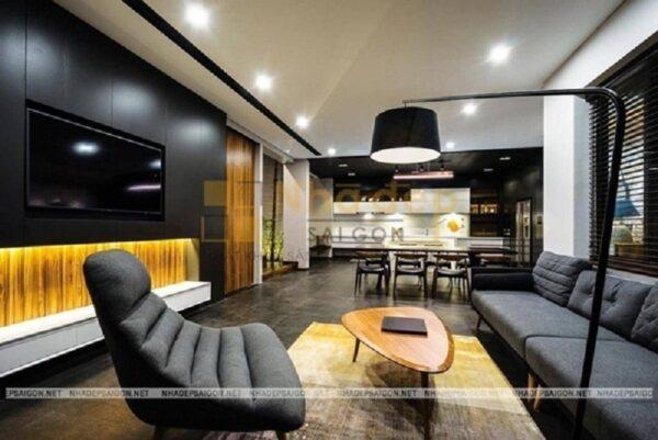 Đèn chùm trang trí mang đến không gian hiện đại cho phòng khách