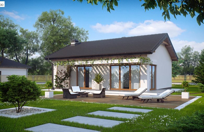 Nhà thiết kế cấp 4 sân vườn đẹp