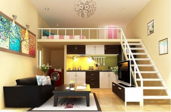 Ngôi nhà nhìn nổi bật với việc sử dụng đa sắc màu, tạo nên một không gian trẻ trung và năng động
