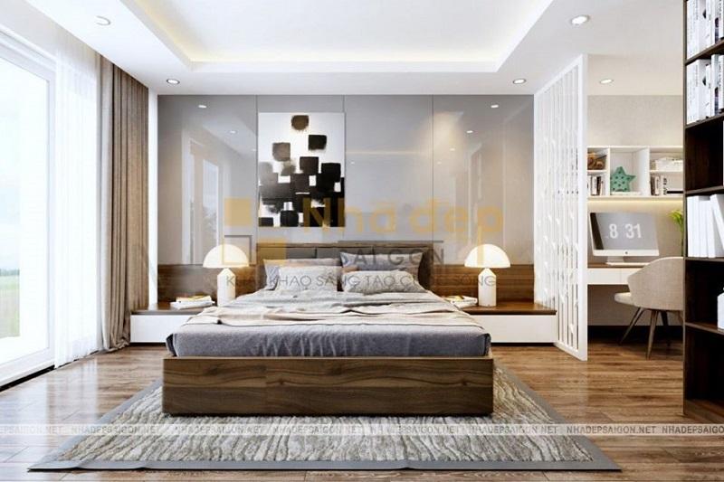 Mẫu 1: nội thất phòng ngủ hiện đại đơn giản