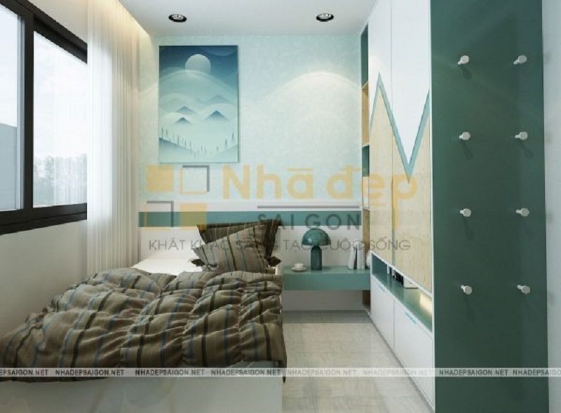 Những chậu hoa tươi hoặc chậu hoa giả đều có thể sử dụng để trang trí phòng ngủ