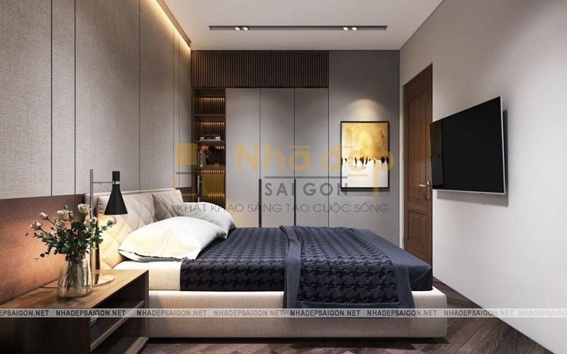 Kệ sách đầu giường là ý tưởng hay khi trang trí phòng ngủ có diện tích nhỏ