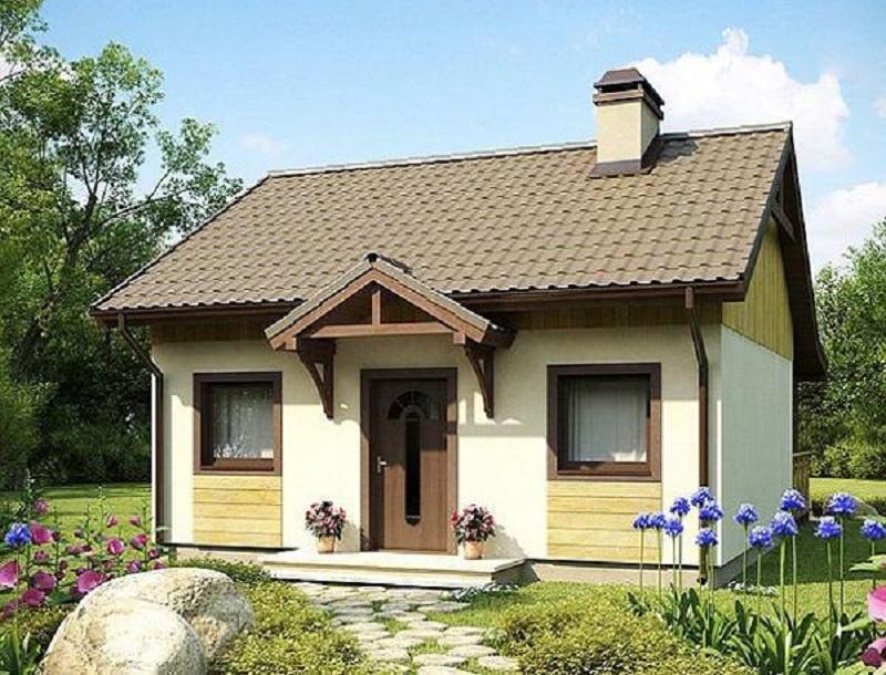 Một ngôi nhà nhỏ, xinh xinh màu sắc nhẹ nhàng đem đến không gian sống gần gũi,hài hòa với thiên nhiên. Màu sắc tinh tế và kết hợp với sử dụng gỗ để trang trí ngoại thất tạo nên nét đặc trưng cho toàn bộ ngôi nhà này