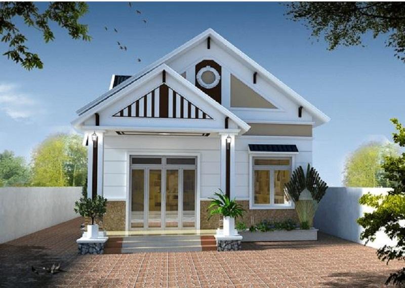 Kiến trúc nhà cấp 4 mái thái khéo léo tôn lên vẻ đẹp và kiểu dáng của ngôi nhà. Nhờ kiểu kiến trúc mà ngôi nhà có khả năng tản nhiệt, chống nóng tốt tạo không gian sống mát mẻ và thông thoáng hơn.