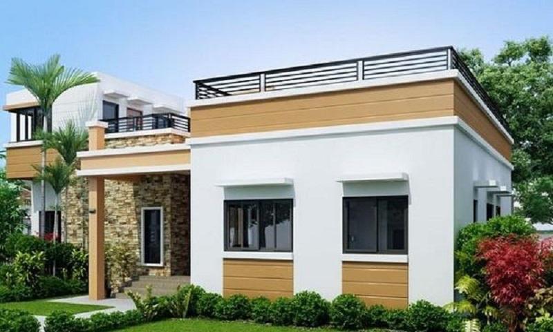 Khi sử dụng màu sắc hài hòa, kết hợp với nhiều cây xanh để tạo không gian tự nhiên và mát mẻ cho ngôi nhà