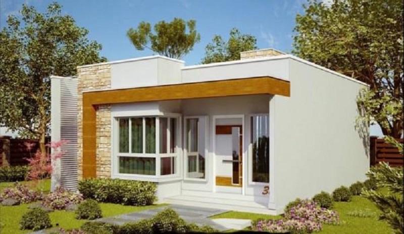 Ngôi nhà có mặt tiền toát lên vẻ hiện đại từ những vật liệu kính cường lực, vật liệu đá ốp tường. Mẫu nhà được thiết kế sân vườn rộng thoáng, chủ nhà cũng có không gian trồng thêm cây xanh giúp căn nhà sang trọng nhưng vẫn nhẹ nhàng, bình dị