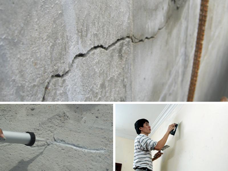 Cách khắc phục tường nhà mới xây bị nứt