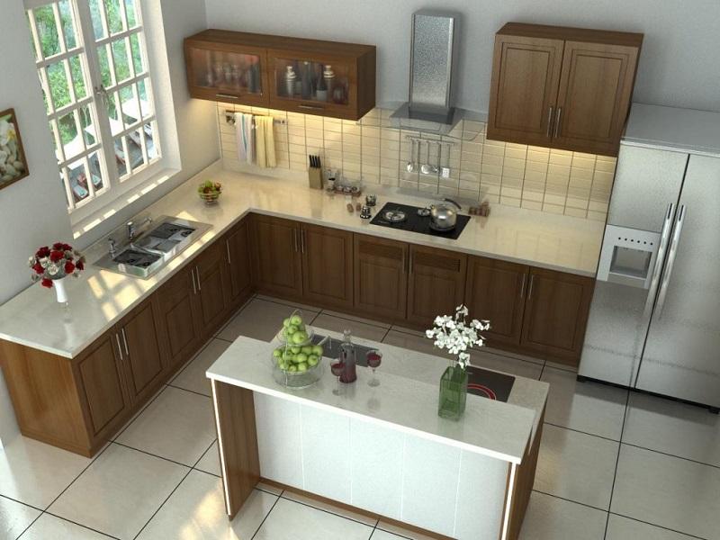 Mẫu nhà bếp nhỏ đẹp đơn giản số 10