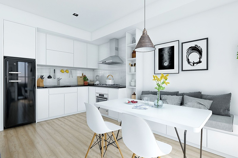 Mẫu nhà bếp nhỏ đẹp đơn giản số 4