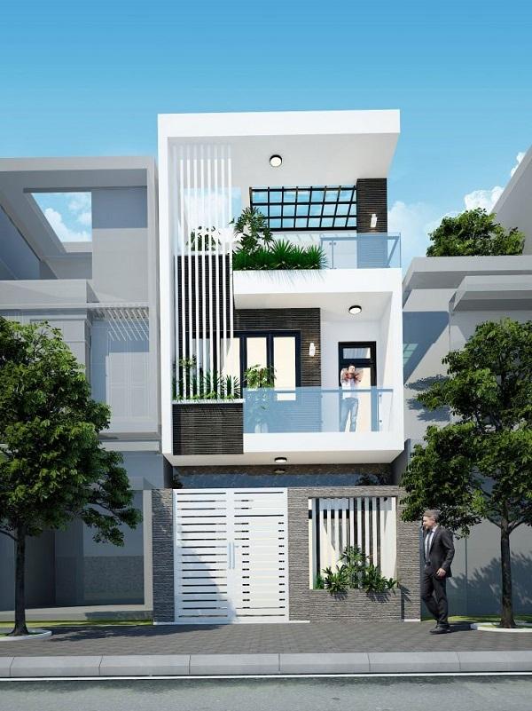 Mẫu thiết kế nhà phố 5m đẹp nhất kiểu 10