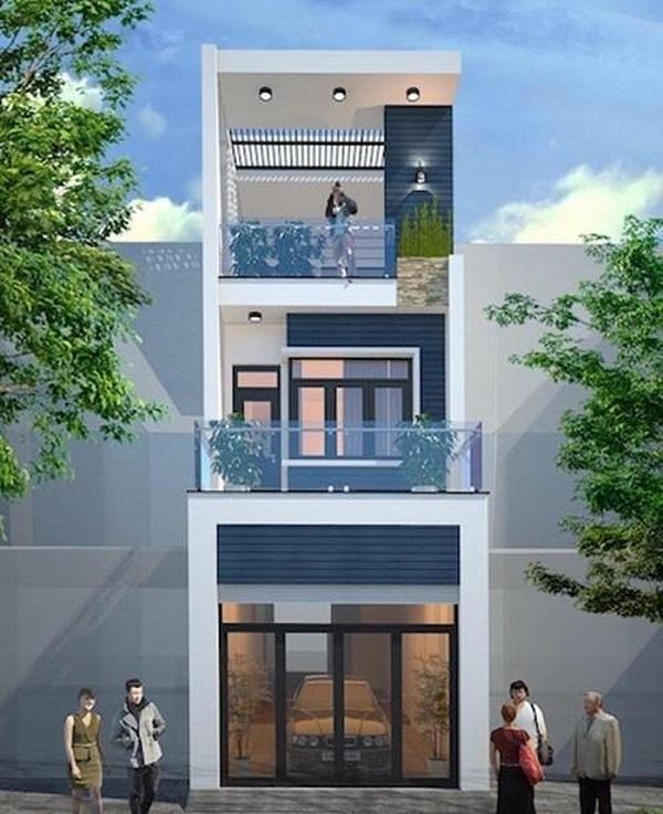 Mẫu thiết kế nhà phố 5m đẹp nhất kiểu 11