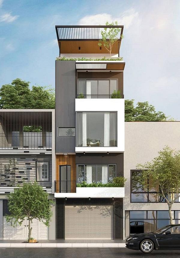 Mẫu thiết kế nhà phố 5m đẹp nhất kiểu 14