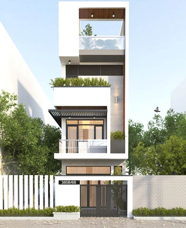Mẫu thiết kế nhà phố 5m đẹp nhất kiểu 15