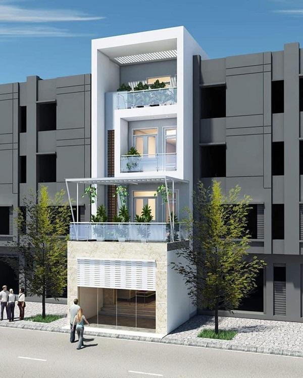 Mẫu thiết kế nhà phố 5m đẹp nhất kiểu 2
