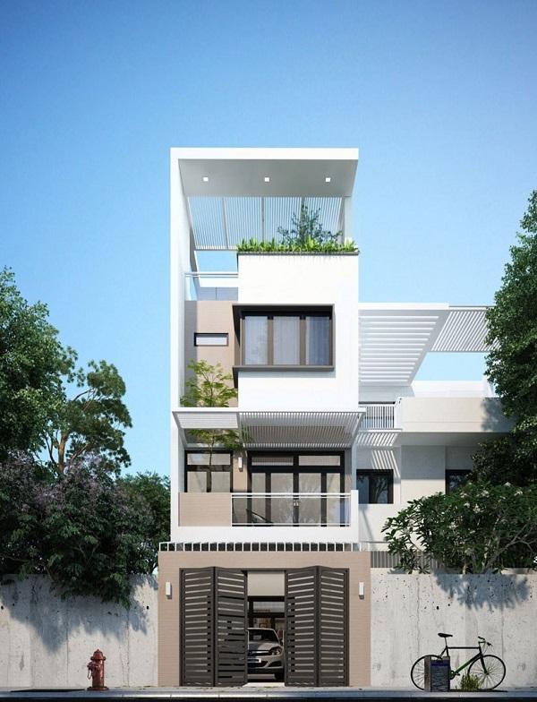 Mẫu thiết kế nhà phố 5m đẹp nhất kiểu 4